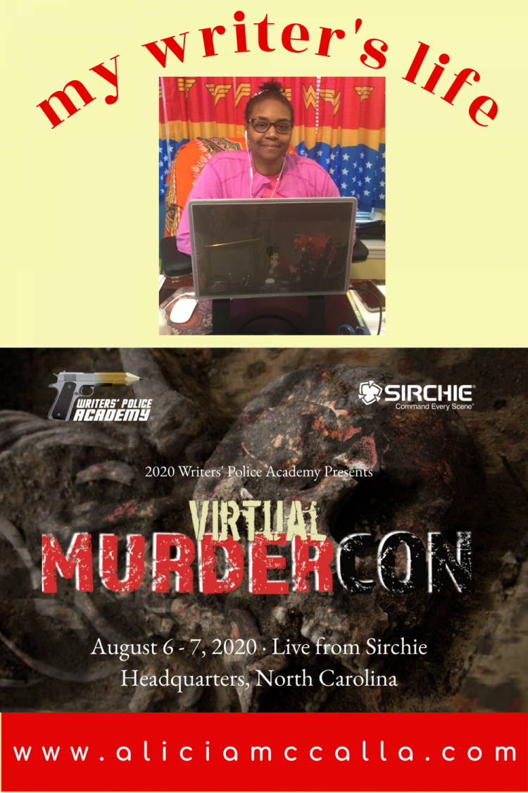 my author's life attending virtual MurderCon 2020